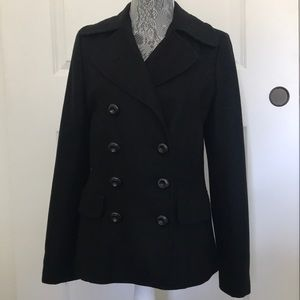 Black wool pea coat blazer - like new
